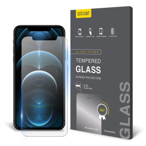 Olixar iPhone 12 Pro Max Tempered Glass Screen Protector - Black