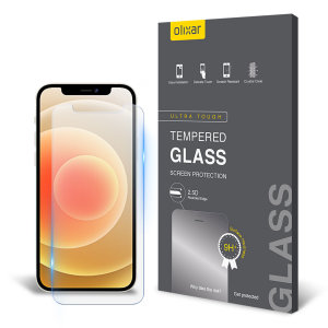 Olixar iPhone 12 mini Tempered Glass Screen Protector - Black