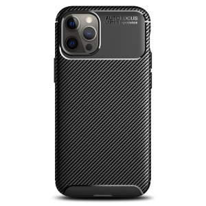 Olixar Carbon Fibre Apple iPhone 12 Pro Max Case - Black