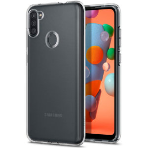 Durable and lightweight, the Spigen Liquid Crystal series for the Samsung Galaxy A11 offers premium protection in a slim, stylish package. Carefully designed, the Liquid Crystal case is form-fitted for a perfect fit.