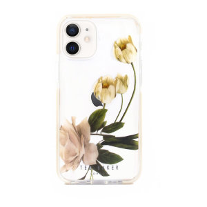 Form-fitting and bulk-free, the Elderflower clear case for iPhone 12 mini from Ted Baker, sports an ethereal floral aesthetic while also offering superlative anti-shock protection for your device from drops, scrapes and scratches.