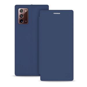 Olixar Soft Silicone Samsung Note 20 Wallet Case - Midnight Blue