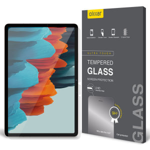 This ultra-thin tempered glass screen protector for the Samsung Galaxy Tab S7 Plus from Olixar offers toughness, high visibility and sensitivity all in one package.
