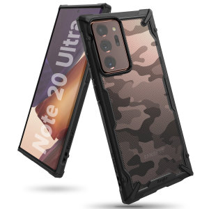 Keep your Samsung Note 20 Ultra 4G/5G protected from bumps & drops with the Rearth Ringke X Design tough case in Camo Black. Featuring a 2-part, Polycarbonate design, this case lives up to military drop-test standards whilst being incredibly stylish