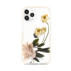 Form-fitting and bulk-free, the Elderflower case for iPhone 12 Pro from Ted Baker in clear, sports an ethereal otherworldly floral aesthetic while also offering superlative anti-shock protection for your device from drops, scrapes and other damage.