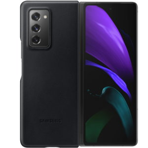 This Official Samsung Genuine Leather Cover Case in Black is the perfect way to keep your Galaxy Fold smartphone protected. The Leather Cover wraps your Galaxy Z Fold 2 5G in luxury premium calfskin leather ensure supreme style with ultra protection.