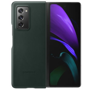 This Official Samsung Genuine Leather Cover Case in Green is the perfect way to keep your Galaxy Z Fold 2 5G smartphone protected. The Leather Cover wraps your Galaxy Z Fold 2 in luxury premium calfskin leather ensure supreme style with ultra protection.
