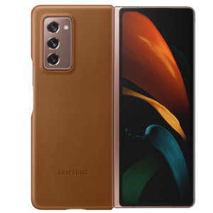 This Official Samsung Genuine Leather Cover Case in Brown is the perfect way to keep your Galaxy Fold smartphone protected. The Leather Cover wraps your Galaxy Z Fold 2 5G in luxury premium calfskin leather ensure supreme style with ultra protection.