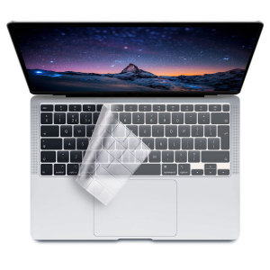The Olixar Keyboard Protector provides full all round protection for your MacBook 2018 Air 13 Inch's keyboard, keeping it in pristine condition. Ultra-Thin and made from non-toxic silicone this keyboard protector is perfect for everyday use.