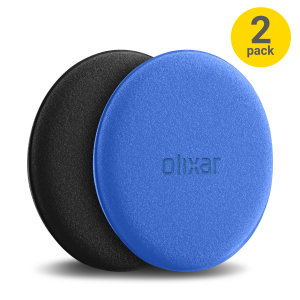 Introducing the new and improved Olixar microfibre cleaning pads. Perfect for polishing your device's screen, this two pack of black & blue Olixar microfibre cleaning pads make the perfect companion.