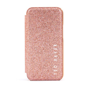 Ted Baker Folio Glitsie iPhone 12 Pro Flip Mirror Case - Pink
