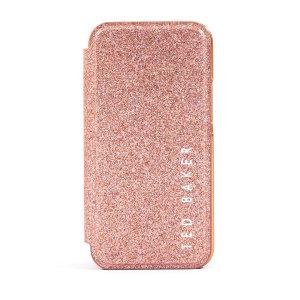Ted Baker Folio Glitsie iPhone 12 Flip Mirror Case - Pink