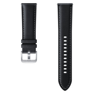 Official Samsung Watch Stitch Leather 22mm Strap  - Black