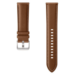 Add sophistication and a premium look to your Samsung Watch with this luxury stitch leather strap in Brown from Official Samsung. With crisp detailing this strap compliments the Galaxy Watch perfectly. Strap is 22mm which is a Large/Medium.