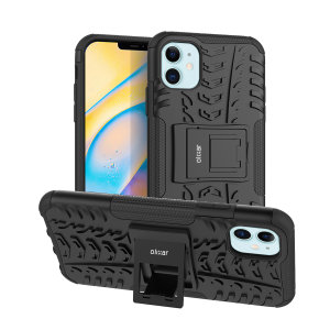 Protect your iPhone 12 mini from bumps and scrapes with this black ArmourDillo case. Comprised of an inner TPU case and an outer impact-resistant exoskeleton, the Armourdillo not only offers sturdy and robust protection, but also a sleek modern styling.