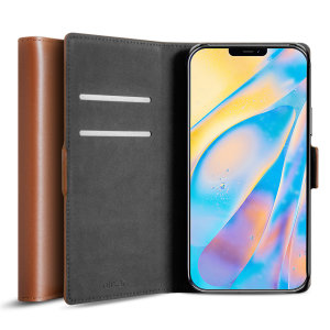 All the benefits of a wallet case but far more streamlined. The Olixar Genuine Leather case in brown is the perfect partner for the iPhone 12 owner on the move. What's more, this case transforms into a handy stand to view media.