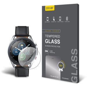This ultra-thin tempered glass screen protector for the Samsung Galaxy Watch 3 45mm from Olixar offers toughness, high visibility and sensitivity all in one package.