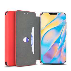 Olixar Soft Silicone iPhone 12 mini Wallet Case - Red