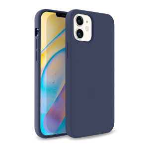 Olixar Soft Silicone iPhone 12 mini Case - Midnight Blue