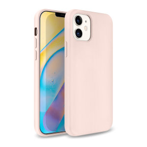 Custom moulded for the iPhone 12 mini, this pastel pink soft silicone case from Olixar provides excellent protection against damage as well as a slimline fit for added convenience.