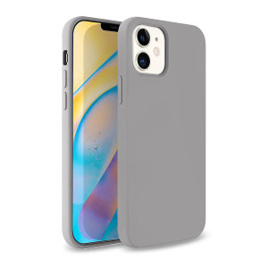 Custom moulded for the iPhone 12 mini, this grey soft silicone case from Olixar provides excellent protection against damage as well as a slimline fit for added convenience.