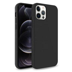 Olixar Soft Silicone iPhone 12 Pro Case - Black
