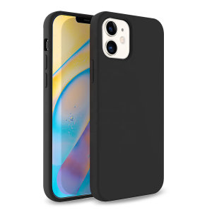 Custom moulded for the iPhone 12, this black soft silicone case from Olixar provides excellent protection against damage as well as a slimline fit for added convenience.