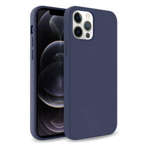 Custom moulded for the iPhone 12 Pro, this midnight blue soft silicone case from Olixar provides excellent protection against damage as well as a slimline fit for added convenience.