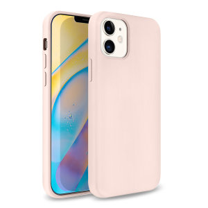 Custom moulded for the iPhone 12, this pastel pink soft silicone case from Olixar provides excellent protection against damage as well as a slimline fit for added convenience.