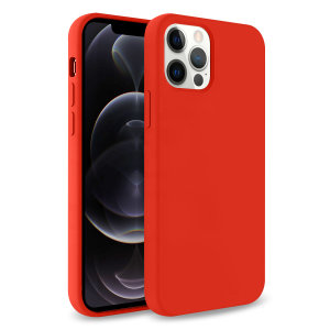 Custom moulded for the iPhone 12 Pro, this red soft silicone case from Olixar provides excellent protection against damage as well as a slimline fit for added convenience.