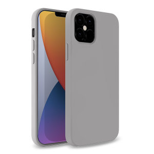 Custom moulded for the iPhone 12 Pro, this grey soft silicone case from Olixar provides excellent protection against damage as well as a slimline fit for added convenience.