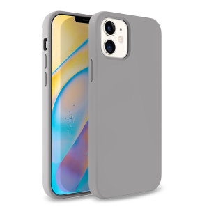 Custom moulded for the iPhone 12, this Grey soft silicone case from Olixar provides excellent protection against damage as well as a slimline fit for added convenience.