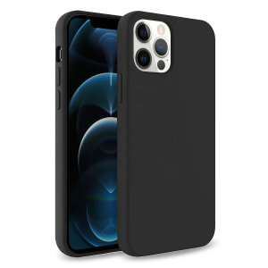 Olixar Soft Silicone iPhone 12 Pro Max Case - Black
