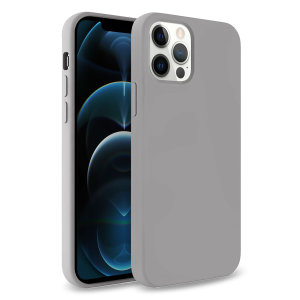 Olixar Soft Silicone iPhone 12 Pro Max Case - Grey