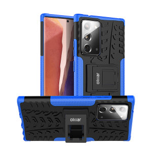 Protect your Samsung Note 20 from bumps and scrapes with this blue ArmourDillo case. Comprised of an inner TPU case and an outer impact-resistant exoskeleton, the Armourdillo not only offers sturdy and robust protection, but also a sleek modern styling.