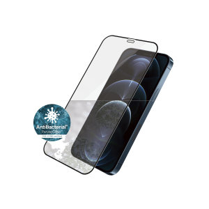 Introducing the premium range iPhone 12 Pro Max PanzerGlass glass screen protector in black. Designed to be shock & scratch resistant offering the ultimate protection. This screen protector is case friendly, allows fingerprint reading & is anti-blue light