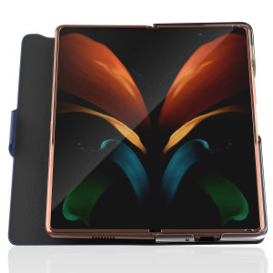 Protect your Samsung Galaxy Z Fold 2 5G with this black Araree Bonnet Stand Case. With premium Saffiano leather, this case provides all round 360° protection for the front and back of your device with the added convenience of a viewing stand.