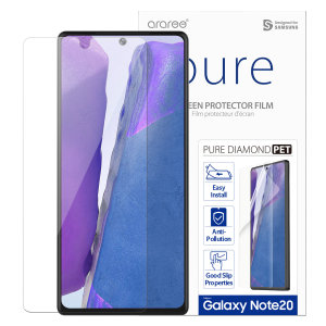 Protect all of your Samsung Galaxy Note 20's beautiful display with an edge to edge tempered glass screen protectors from Araree. With superb clarity and a durable construction this is the perfect way to keep your screen protected from scratches & drops.