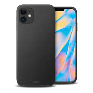 Crafted from premium genuine leather, this exquisite black case from Olixar for the iPhone 12 mini provides stunning style and prestigious protection for your phone in a slim and sleek package.