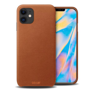 Olixar Genuine Leather iPhone 12 mini Case - Brown