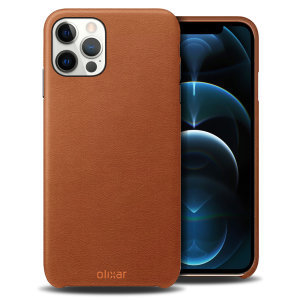 Olixar Genuine Leather iPhone 12 Pro Max Case - Brown