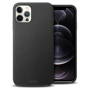 Olixar Genuine Leather iPhone 12 Pro Case - Black