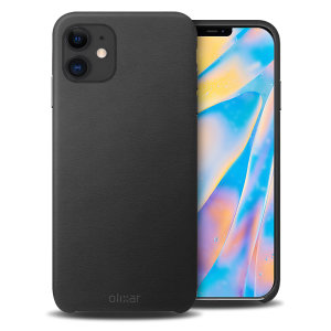 Crafted from premium genuine leather, this exquisite black case from Olixar for the iPhone 12 provides stunning style and prestigious protection for your phone in a slim and sleek package.