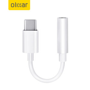 Olixar USB-C To 3.5mm Audio Headphone Adapter - White