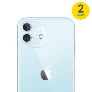 Olixar iPhone 12 mini Tempered Glass Camera Protector - Twin Pack