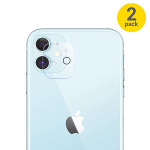 Olixar iPhone 12 Tempered Glass Camera Protector - Twin Pack