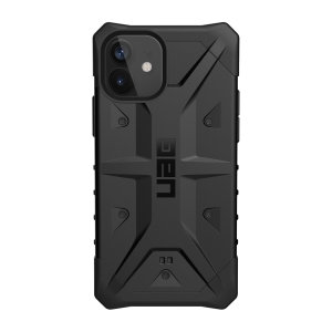 The UAG Pathfinder Case in Black for the iPhone 12 mini features a classic tough-looking, composite design with a soft impact-absorbing core and hard exterior that provides superb protection in all situations.