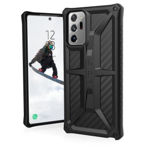 The UAG Monarch in Carbon Fibre for the Samsung Note 20 Ultra is quite possibly the king of protective cases. With 5 layers of protection and the finest materials, your Note 20 Ultra is safe, secure & in some style too. Compatible with 4G and 5G variants.