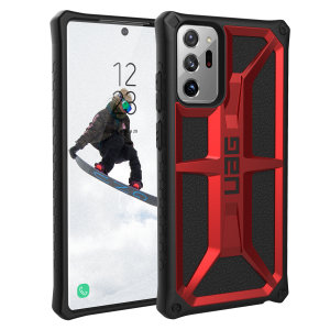 The Urban Armour Gear Monarch in Crimson for the Samsung Galaxy Note 20 Ultra 4G/5G is quite possibly the king of protective cases. With 5 layers of premium protection and the finest materials, your Note 20 Ultra is safe, secure and in some style too.