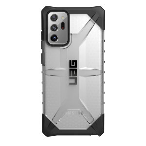 The Urban Armour Gear Plasma for the Samsung Galaxy Note 20 Ultra 4G/5G features a protective TPU case in Ice Grey with a brushed metal UAG logo insert for an amazing design and excellent protection from scrapes, bumps and scratches.